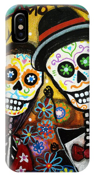 Bloom iPhone Case - Wedding Dia De Los Muertos by Pristine Cartera Turkus