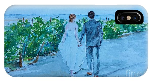Wedding In Sonoma Winery IPhone Case