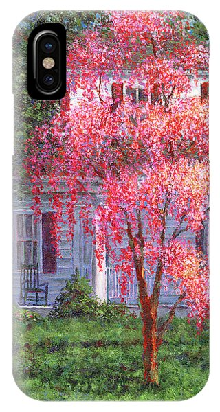 Weeping Cherry By The Veranda IPhone Case