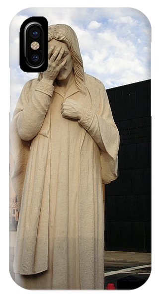 Weeping Jesus Statue In Oklahoma City IPhone Case