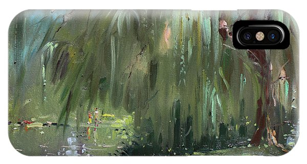Lake iPhone Case - Weeping Willow Tree by Ylli Haruni