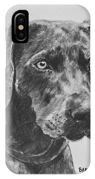 Weimaraner Drawn In Charcoal IPhone Case