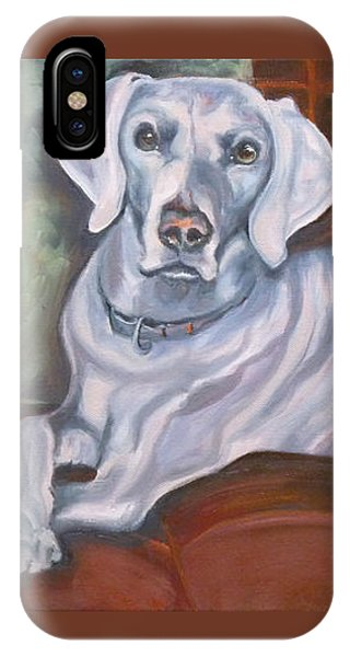 Weimaraner Reclining IPhone Case