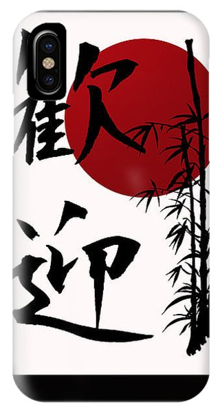 Welcome In Kanji Script IPhone Case