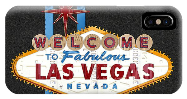 Welcome To Las Vegas Nevada Sign Recycled Vintage License Plate Art IPhone Case