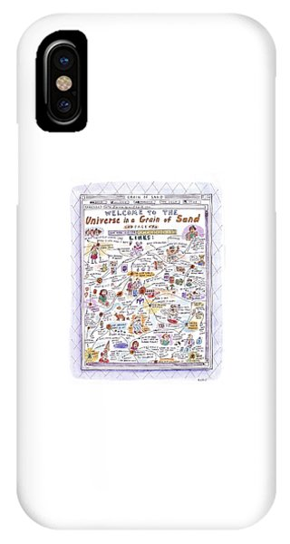 'welcome To The Universe In A Grain Of Sand' IPhone Case