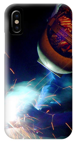Welder On Times Square In Nyc IPhone Case