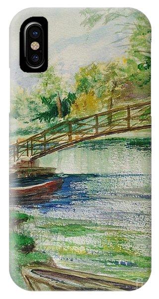Weldon Springs Footbridge IPhone Case