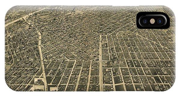 Wellge's Birdseye Map Of Denver Colorado - 1889 IPhone Case