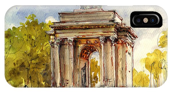 Arched iPhone Case - Wellington Arch by Juan  Bosco