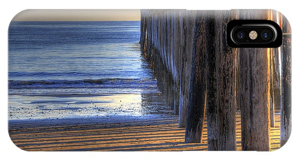 West Coast Cayucos Pier IPhone Case