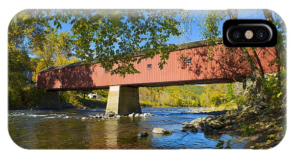 Scenic New England iPhone Case - West Cornwall Covered Bridge by Diane Diederich