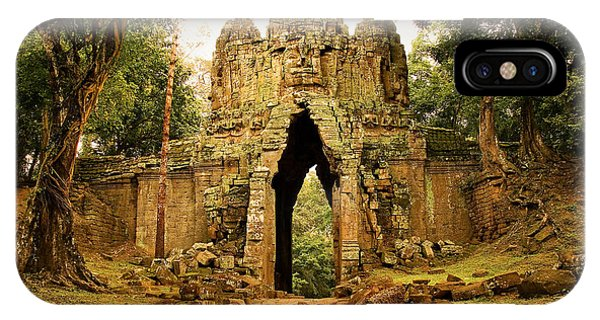 Angkor Thom iPhone Case - West Gate To Angkor Thom by Artur Bogacki
