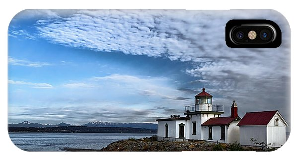 Navigation iPhone Case - West Point Lighthouse by Joan Carroll