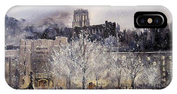 Monument iPhone Case - West Point Winter by Sandra Strohschein