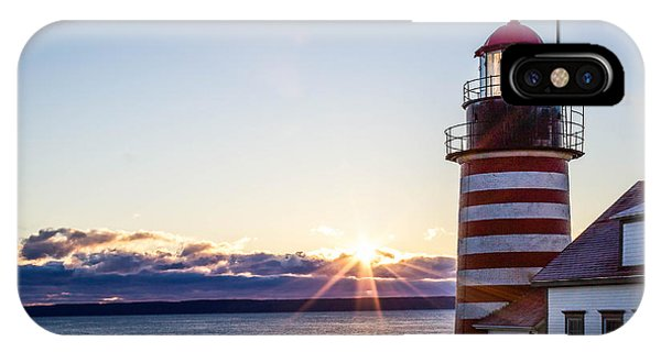 West Quoddy Head Lighthouse Sunrise  IPhone Case