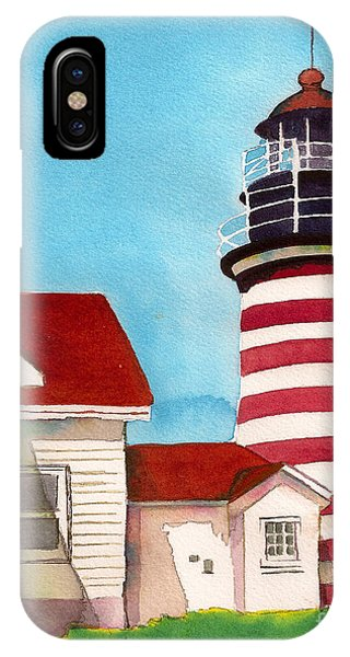 West Quoddy Light House IPhone Case