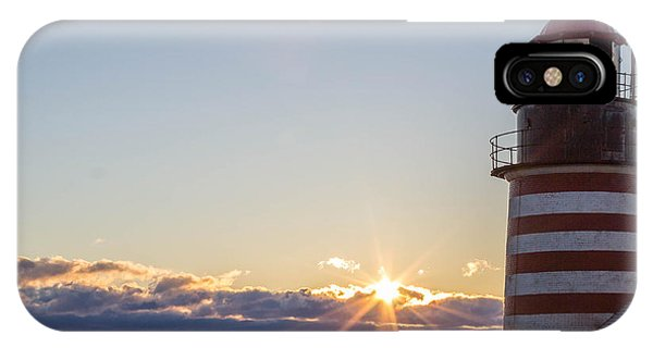 West Quoddy Lighthouse Sunrise IPhone Case