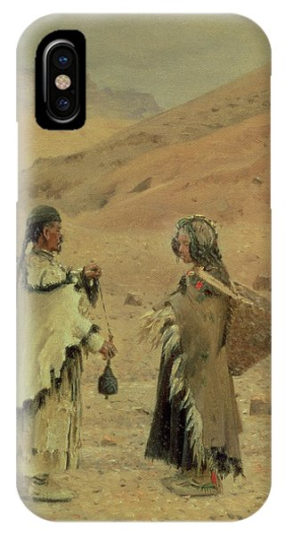 West Tibetans, 1875 Oil On Canvas IPhone Case