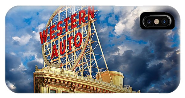 Western Auto Sign Downtown Kansas City IPhone Case