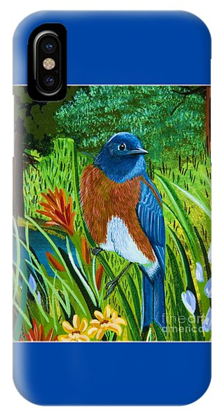 Western Bluebird IPhone Case