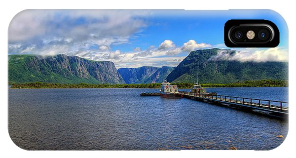 Western Brook Fjord. IPhone Case