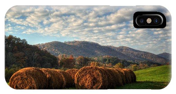 Western North Carolina Hay Field IPhone Case
