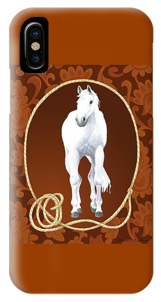 Western Roundup Standing Horse IPhone Case