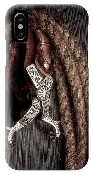 Equine iPhone Case - Western Spurs - Revisited by Tom Mc Nemar