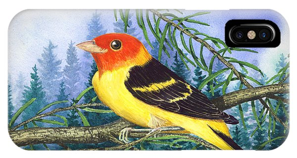Western Tanager In Yosemite IPhone Case