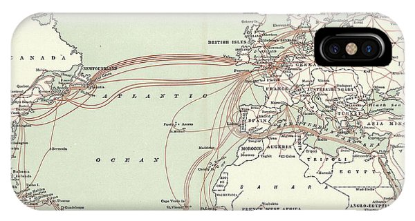 Western Union Transatlantic Cables Phone Case by Library Of Congress, Geography And Map Division