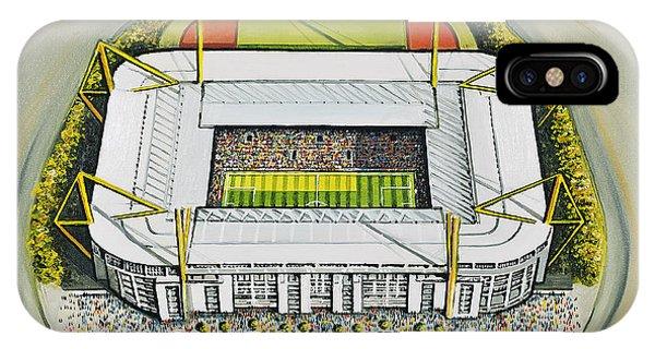 Borussia Dortmund iPhone Case - Westfalonstadion - Borussia Dortmund by D J Rogers