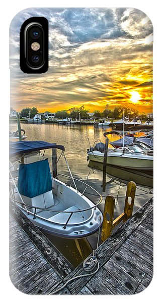Westhampton Beach Marina Sunset IPhone Case