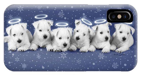Westie Snow Angels Phone Case by Heidi Marcinik