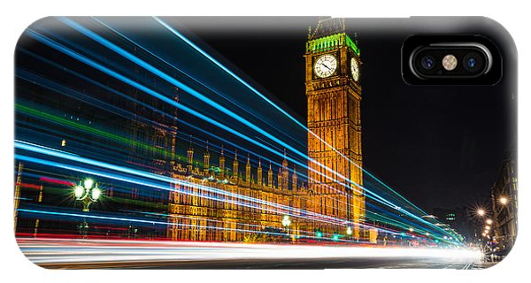 Westminster Light Trails IPhone Case