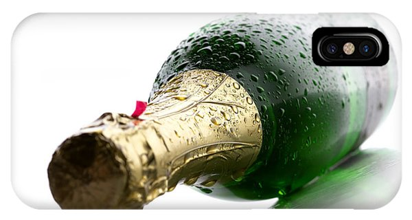 Wet iPhone Case - Wet Champagne Bottle by Johan Swanepoel