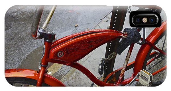 Wet Orange Bike   Nyc IPhone Case