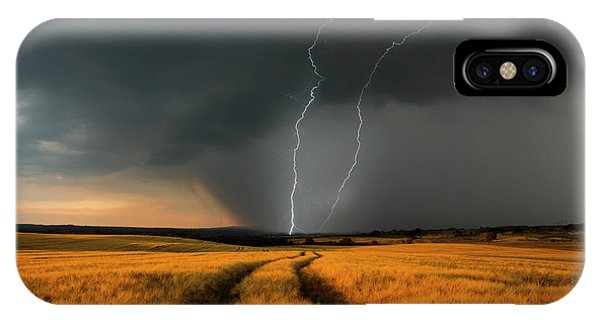 Germany iPhone Case - Wetterfront by Nicolas Schumacher