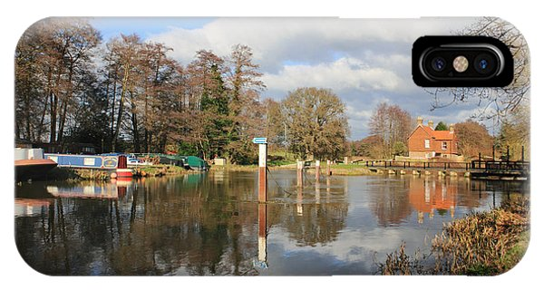 Wey Canal Surrey England Uk IPhone Case