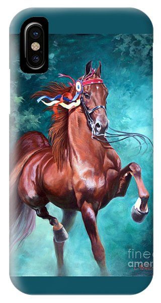 Horse iPhone Case - Wgc Courageous Lord by Jeanne Newton Schoborg