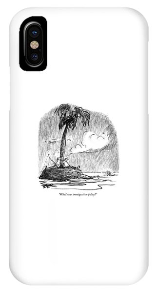 Shipwreck iPhone Case - What's Our Immigration Policy? by Robert Weber