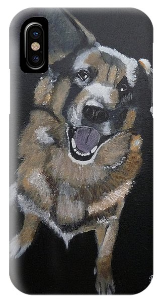 IPhone Case featuring the painting What's Up by Richard Le Page