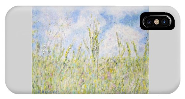 Wheat Field And Wildflowers IPhone Case