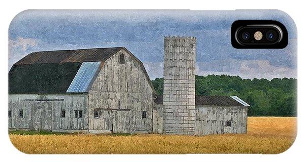 Wheat Field Barn IPhone Case