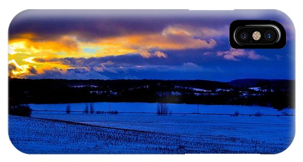 Wheat Field In Winter IPhone Case