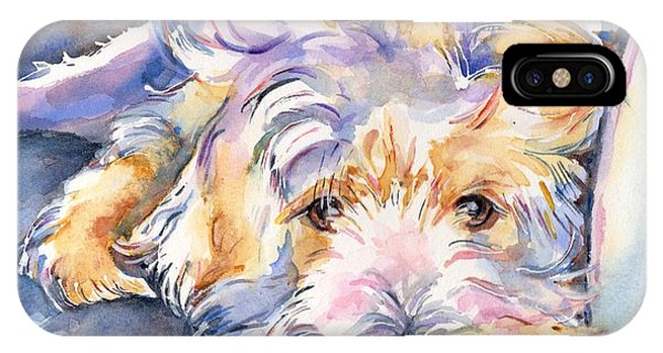 iPhone Case - Wheaten Terrier Painting by Maria Reichert