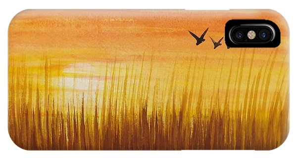 Wheatfield At Sunset IPhone Case