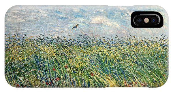 Impressionism iPhone X Case - Wheatfield With Lark by Vincent van Gogh