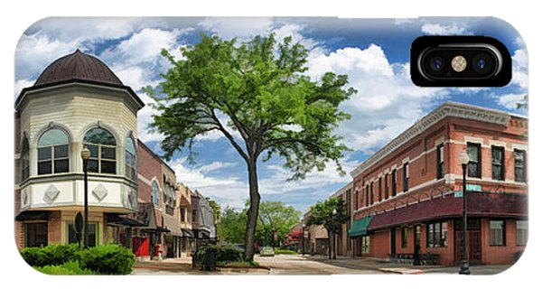 Wheaton Front Street Panorama IPhone Case