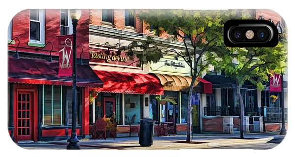 Wheaton Front Street Store Fronts IPhone Case